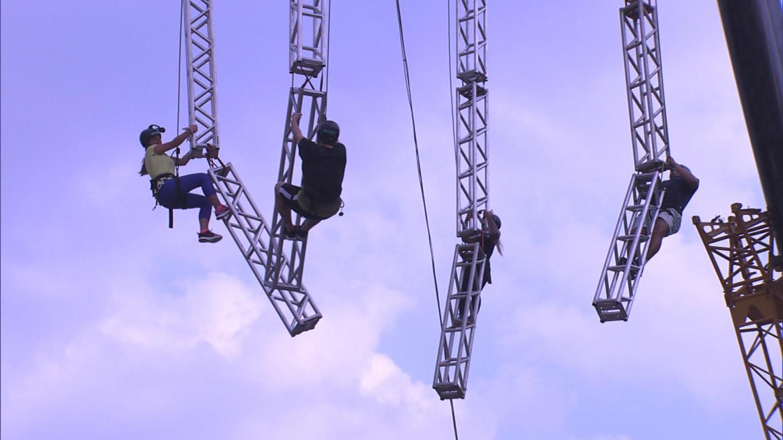Power Couple: na primeira prova dos casais da temporada, participantes encaram medo de altura