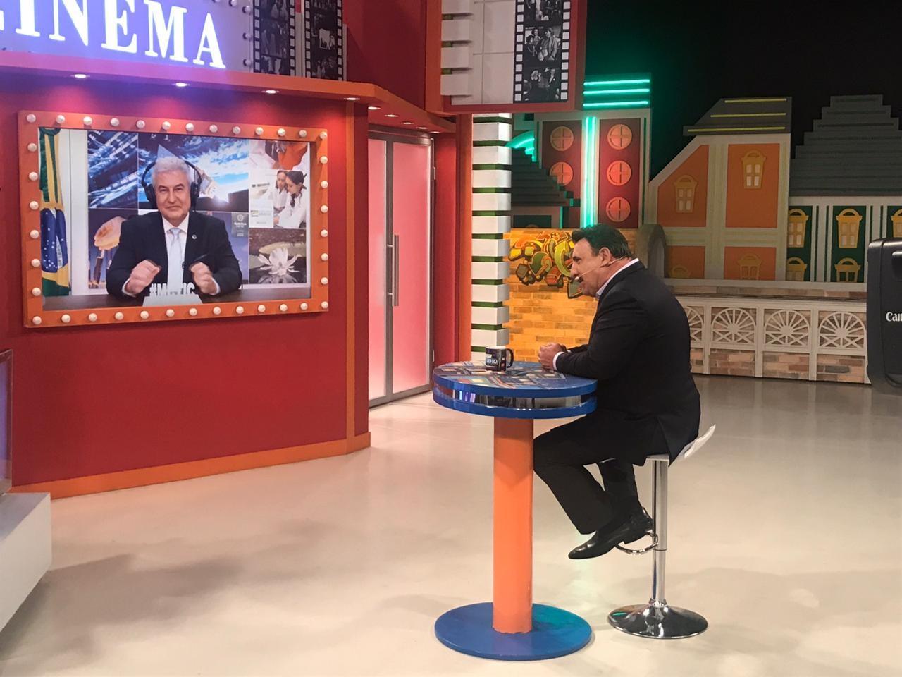 Ratinho conversa com Marcos Pontes, ministro da Ciência, Tecnologia, Inovações e Comunicações