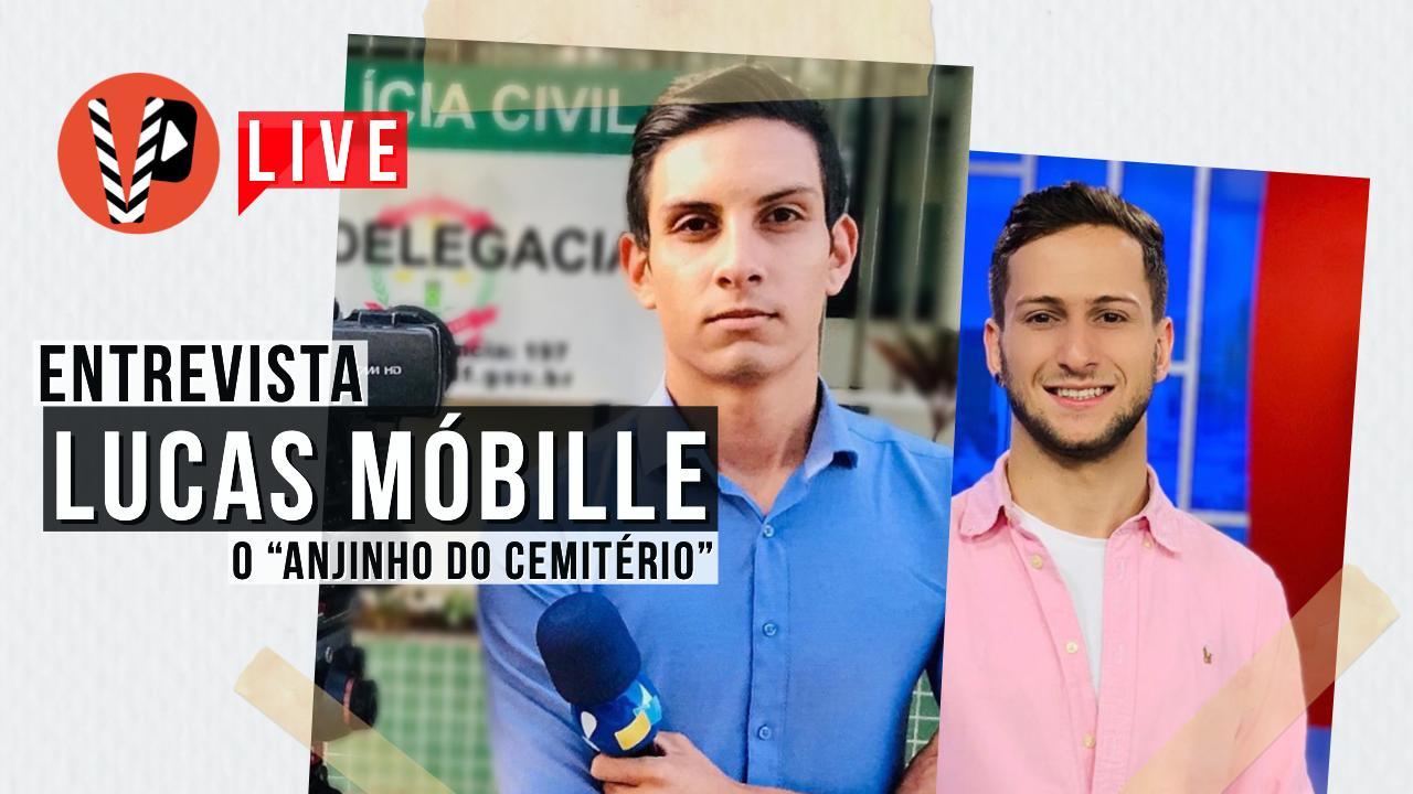 Lucas Móbille, repórter do Sikera Jr, participa de entrevista exclusiva em live no Portal Virou Pauta