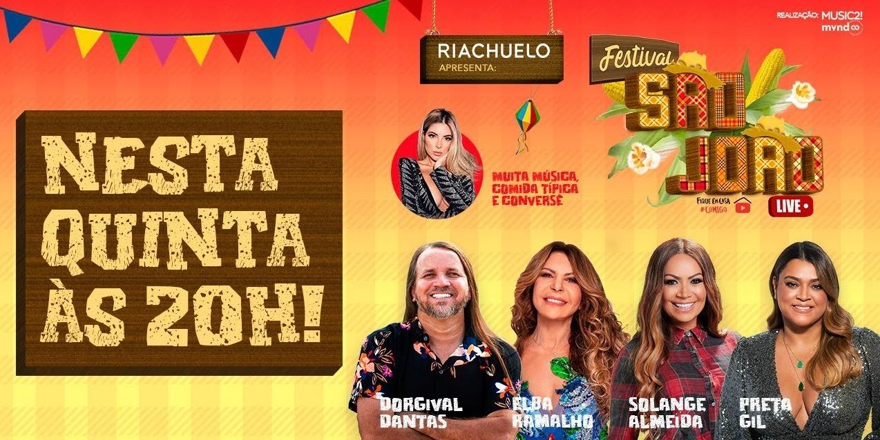 AO VIVO   Assista Elba Ramalho, Preta Gil, Dorgival Dantas e Solange Almeida no Festival São João Live
