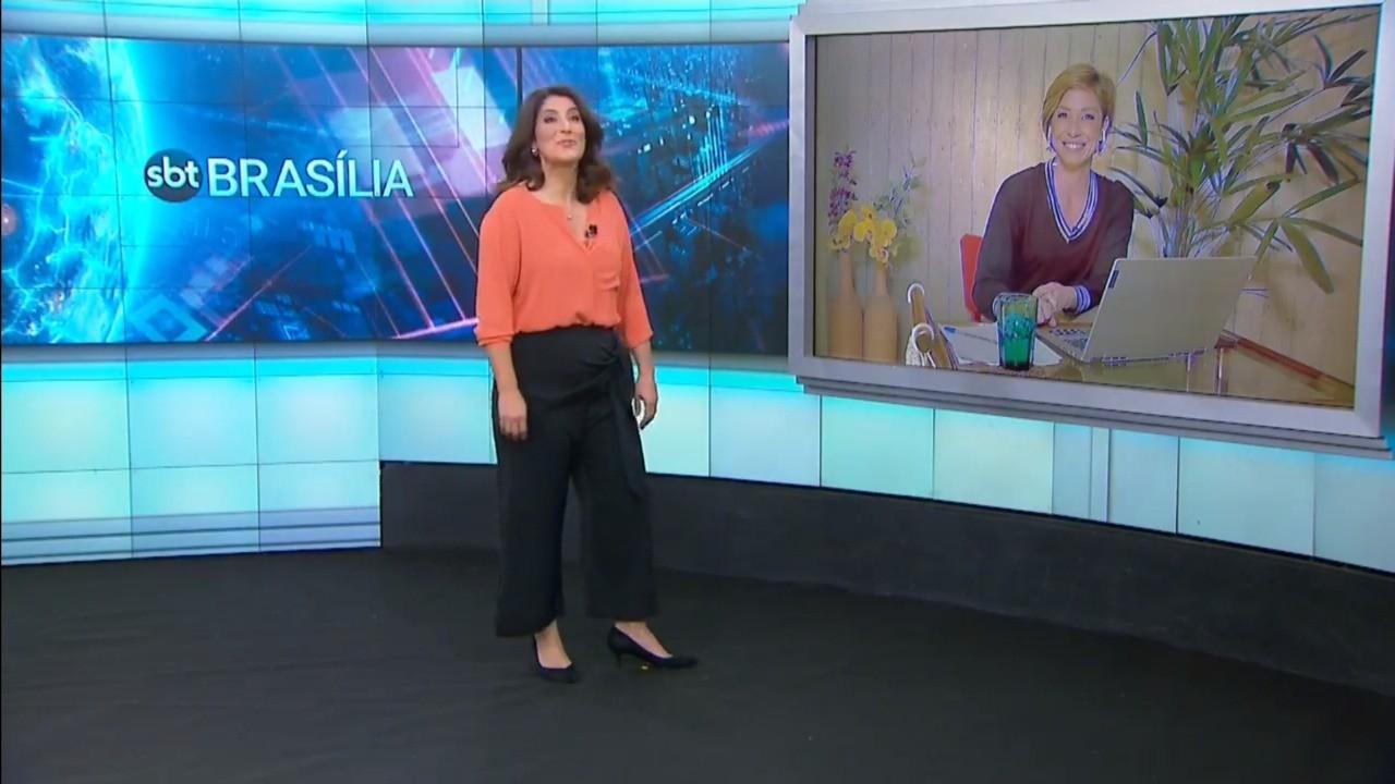 Com produção afastada por coronavírus, 'SBT Brasília' é apresentado direto de São Paulo, assista