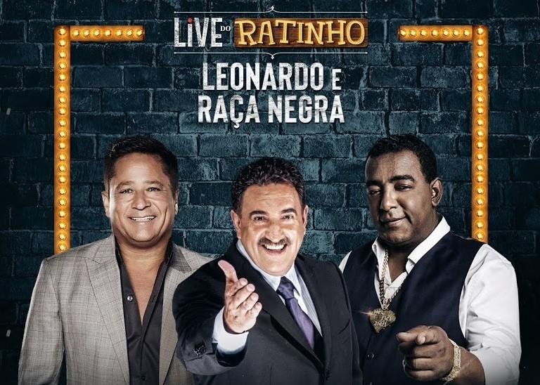 LIVE | SBT une Ratinho, Raça Negra e Leonardo em Live inédita