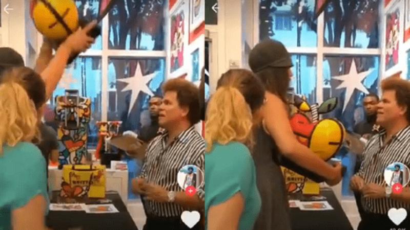 Após Romero Britto ofender funcionários em restaurante, mulher se vinga; veja vídeo
