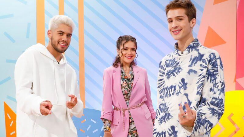 Maisa recebe os irmãos João Guilherme e Zé Felipe em seu programa, veja