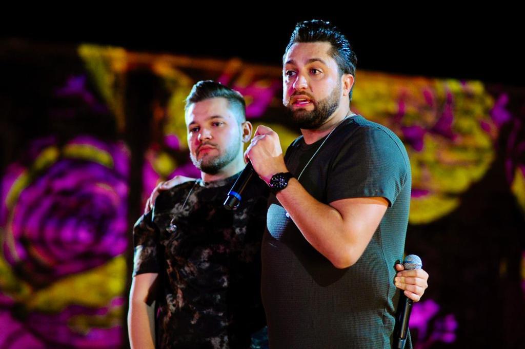 Matheus e Kauan e Wesley Safadão, participam da Gravação do DVD da dupla Davi e Thiago