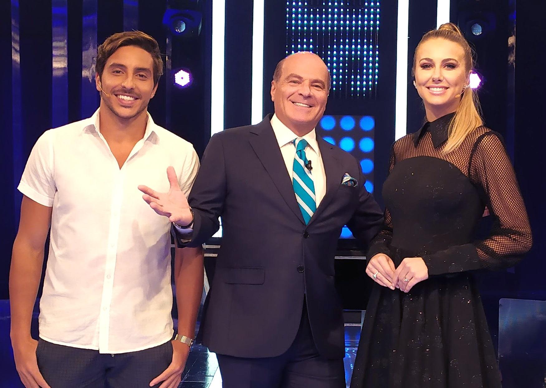 Marthina Brandt e o ator Lucas Mantellato participam do MegaSenha