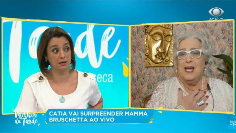 Emocionante: Após ser demitida do SBT, Catia Fonseca contrata Mamma Bruschetta ao vivo