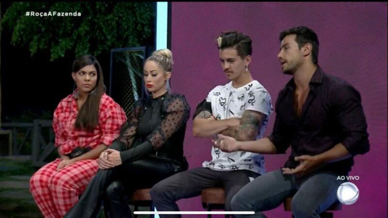 Tays, Carol, Biel e Mariano estão na Roça de A FAZENDA 12