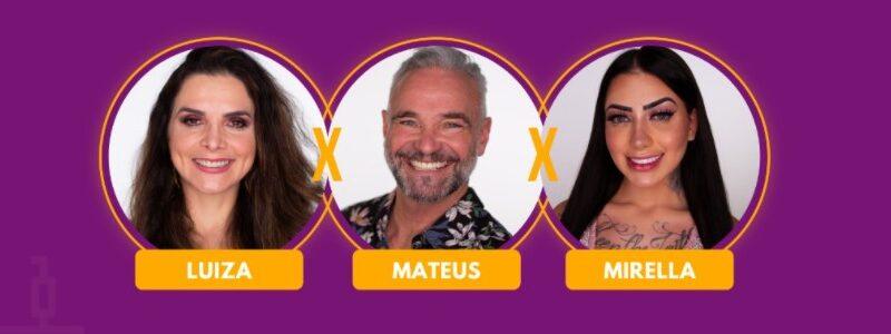 Enquete: Luiza, Mateus ou Mirella? Vote em quem DEVE SAIR de A FAZENDA 12
