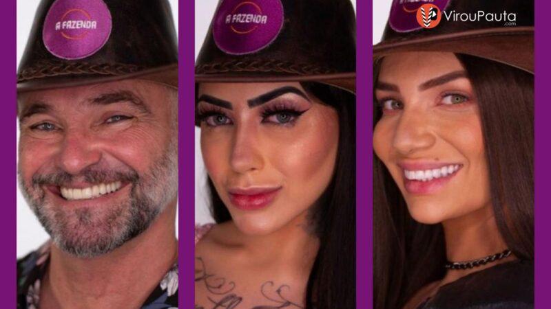 ENQUETE: MC Mirella, Mateus Carrieri ou Stéfani Bays ? Vote em quem DEVE SAIR de A FAZENDA 12