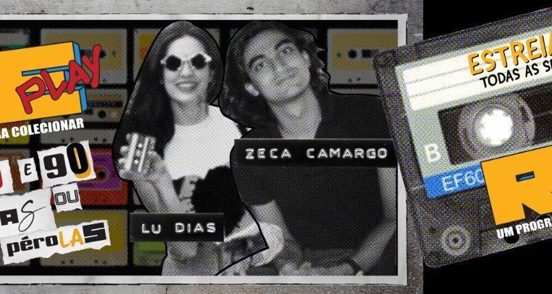 """Zeca Camargo e Lu Dias estreiam no rádio no comando do """"Replay"""""""