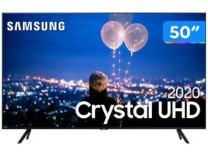 """PROMOÇÃO: Smart TV Crystal 4K LED 50"""" Samsung com ótimo preço, confira"""