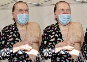 Silvio Santos toma segunda dose de vacina contra Covid-19, veja o vídeo