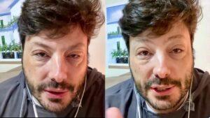"""Danilo Gentili surge com rosto deformado e explica: """"passei por maus bocados, poderia ter ido pro saco"""""""